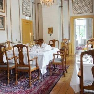 Vacker matsal på slottet